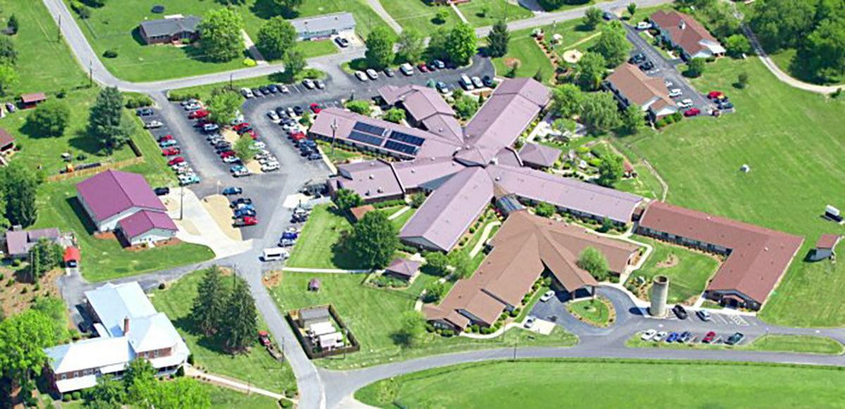 Silver Bluff Village overhead shot