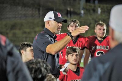 Coach Chappell congratulates his team.JPG