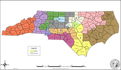 2020 NC Congressional District map