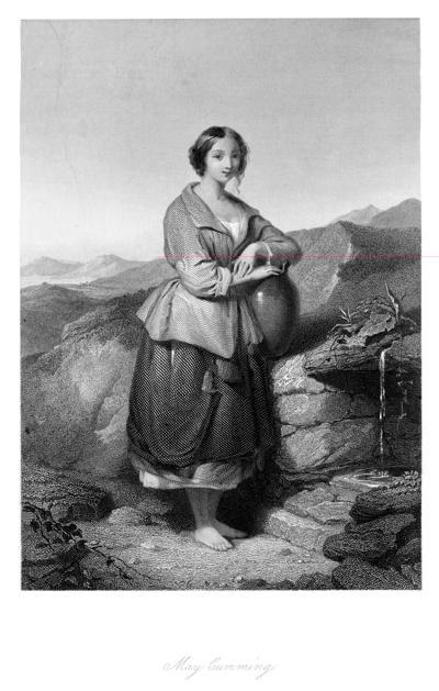 Appalachian woman spring water