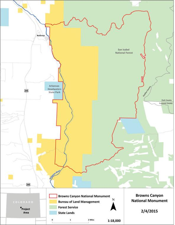 National Monuments Official Boundaries TheMountainMailcom News - Us canyons boundary map
