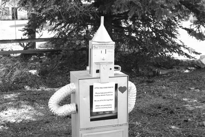 One of two Little Free Libraries at Chipeta Avenue and Antero Street