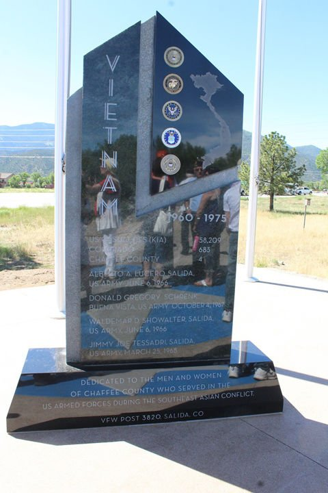 Monument in Chaffee County Veterans Memorial Park