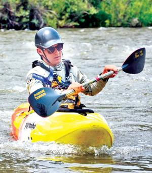 Jeff Hammond patrols the river