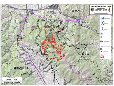 Decker Fire Map Oct. 7, 2019