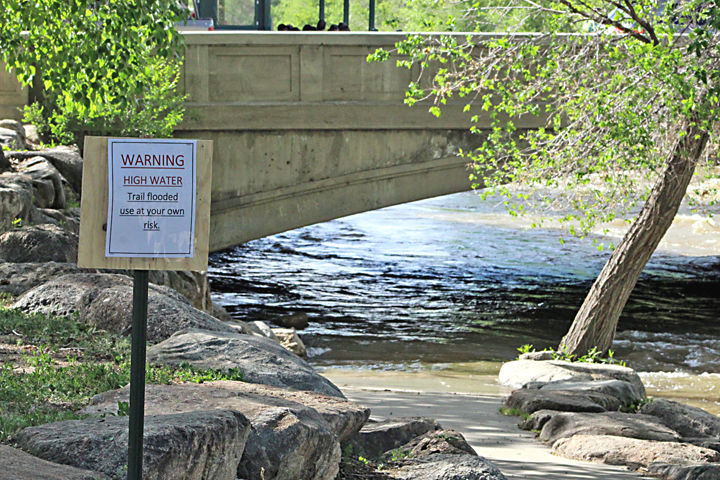Arkansas River at F Street Bridge