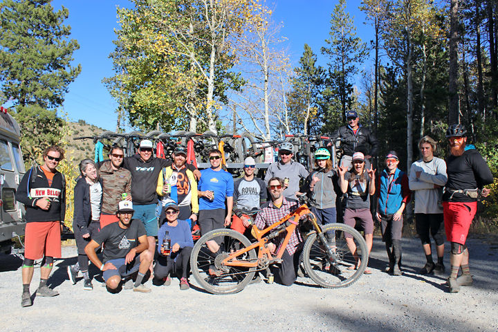 Riders and organizers of the Monarch Crest Enduro