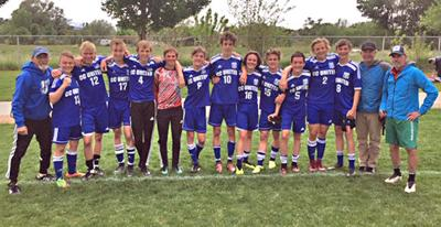 Members of the Chaffee County United Under-19 team