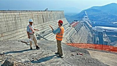 Dr. Scott Tinker visits a hydroelectric dam in Ethiopia