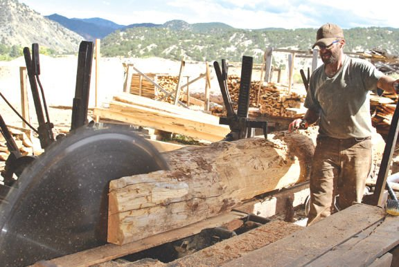 Greg Wilkins works at the sawmill