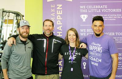 The core staff of Anytime Fitness