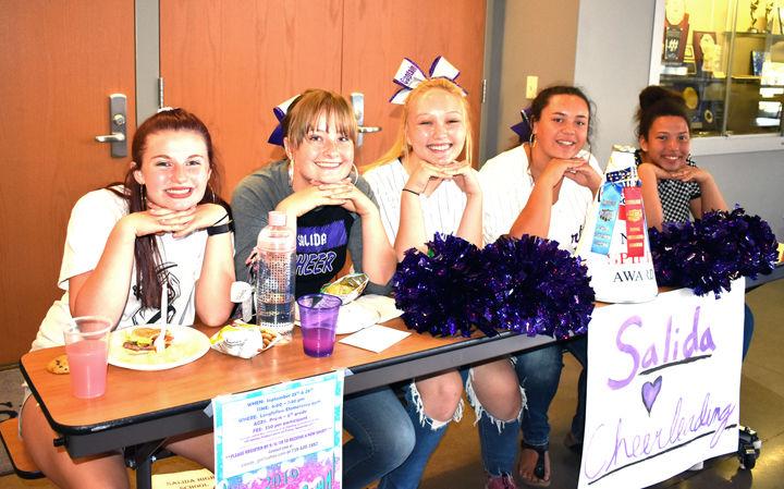 Salida High School cheerleaders
