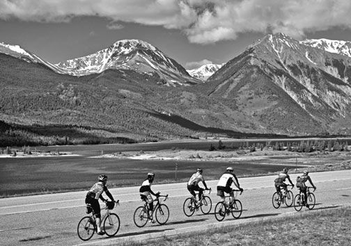 Ride the Rockies cyclists