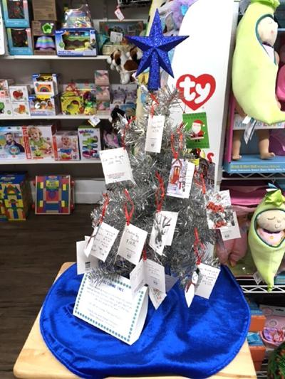 Giving trees can be found at local merchants
