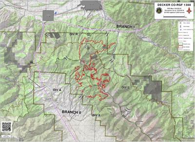 Decker Fire activity map as of Oct. 4, 10:30am