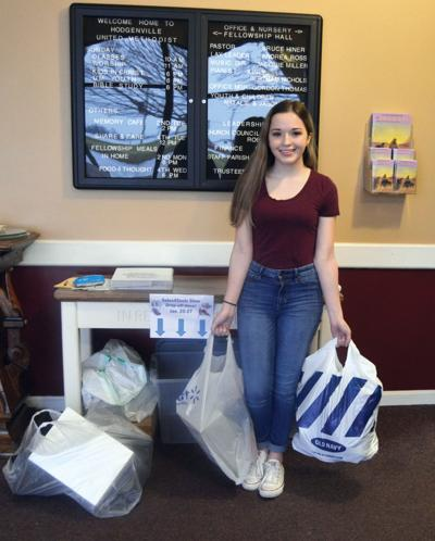LaRue County High School student organizing local shoe drive