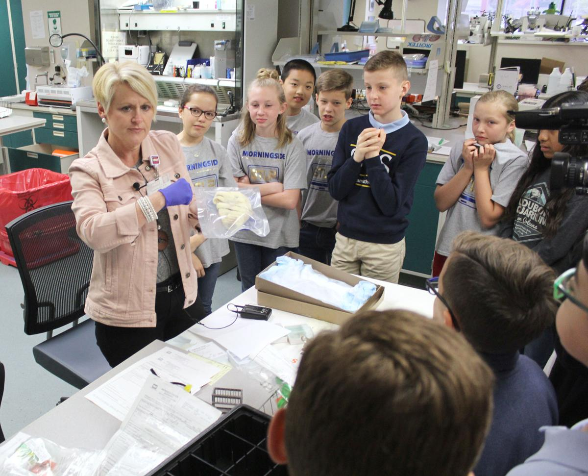 Fifth-graders tour today's high-tech care