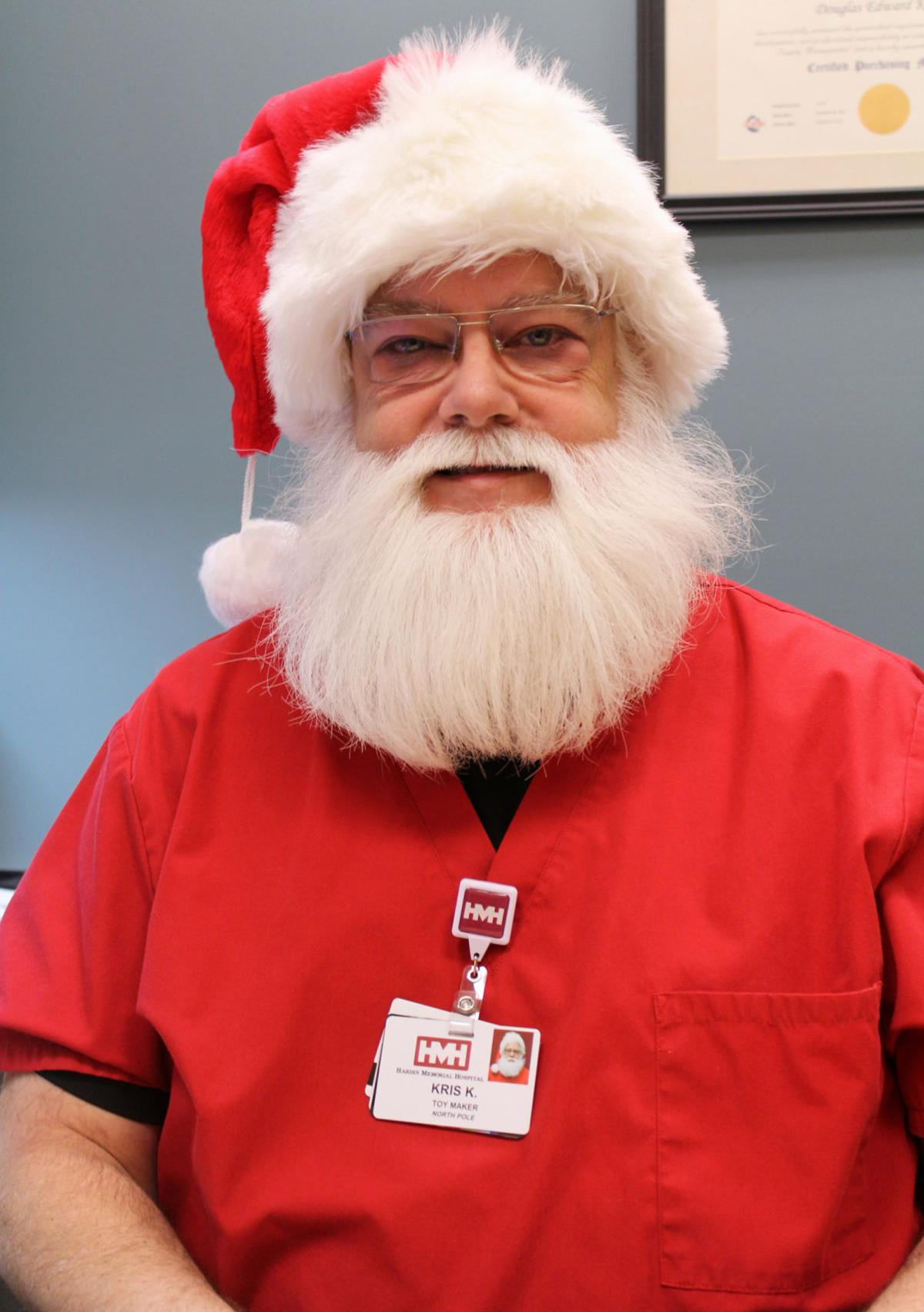 Playing the role of Santa
