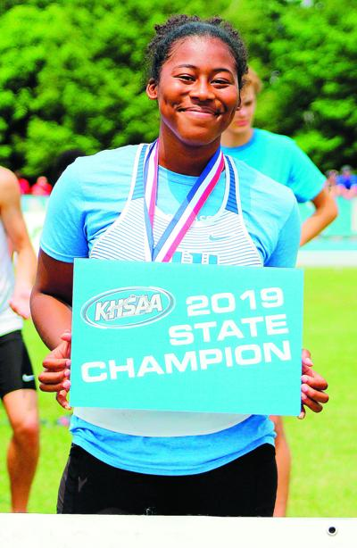 ALL-AREA TRACK GIRLS' SOPHOMORE and FIELD ATHLETE OF THE YEAR: Lee doubles up; seeking third state championship