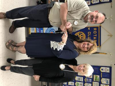 Radcliff Rotary Club members welcome Ogden as speaker