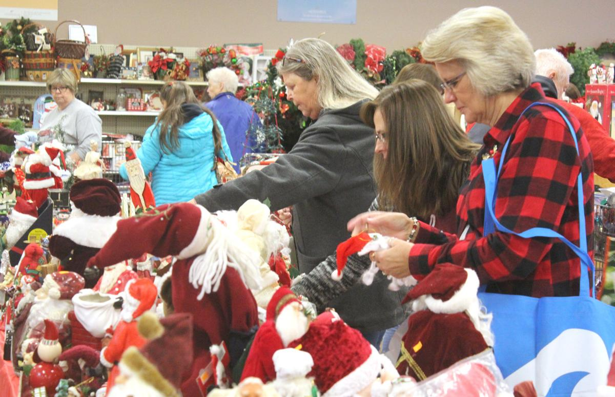 Store packed for Christmas Bazaar