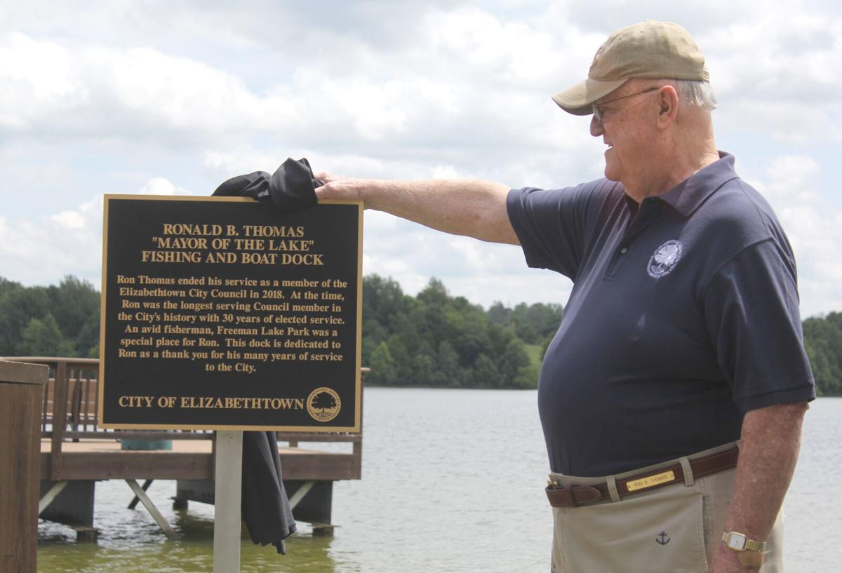 City dedicates dock to the 'mayor of the lake'