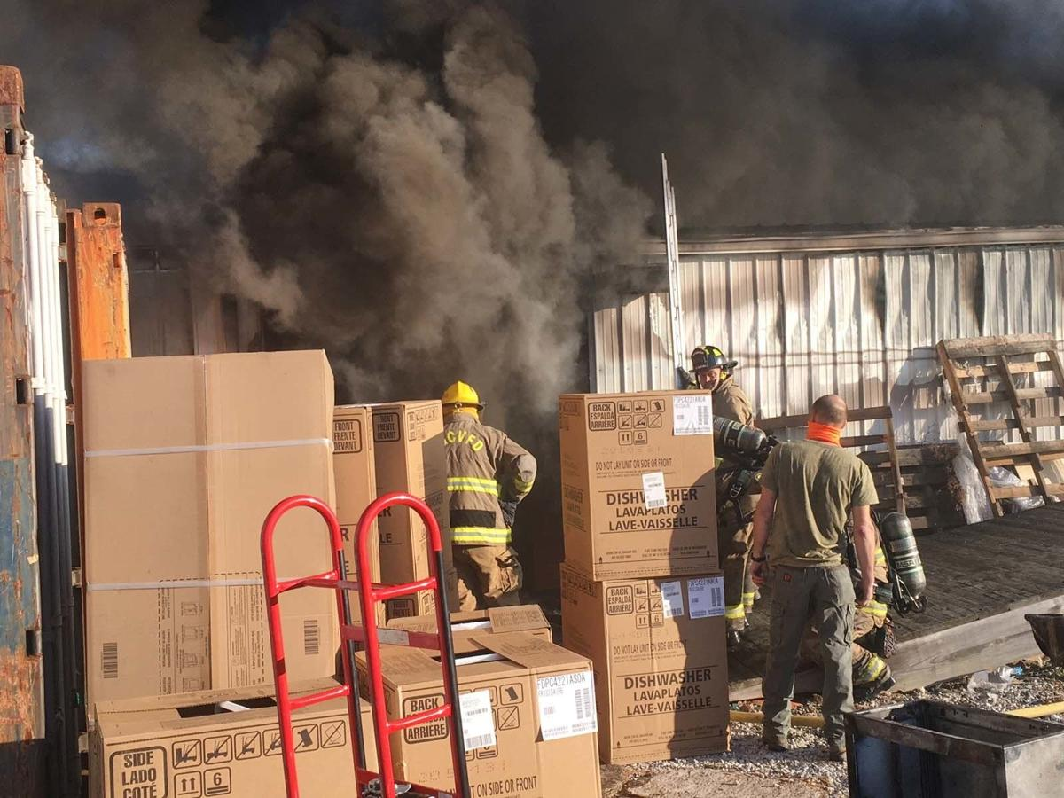 Fire engulfs furniture store's warehouses