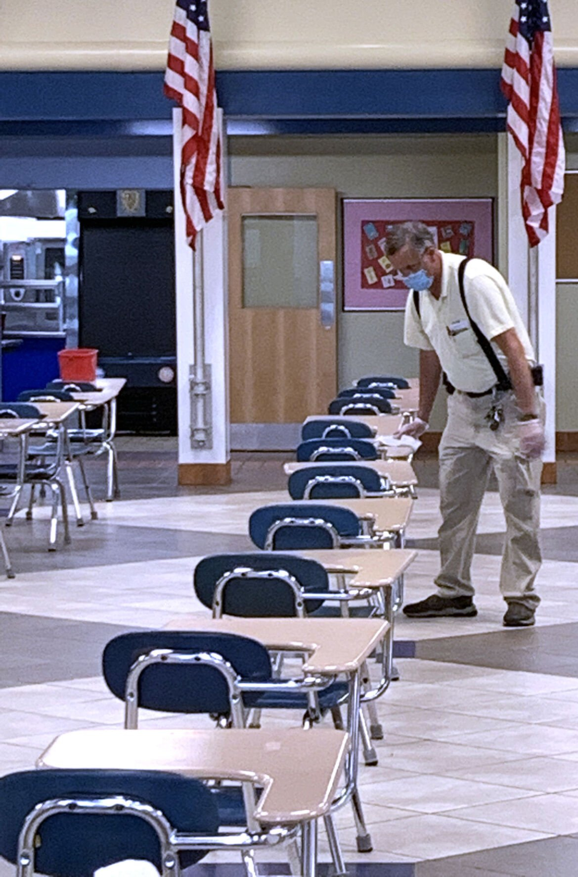Keeping schools clean remains a continuous effort