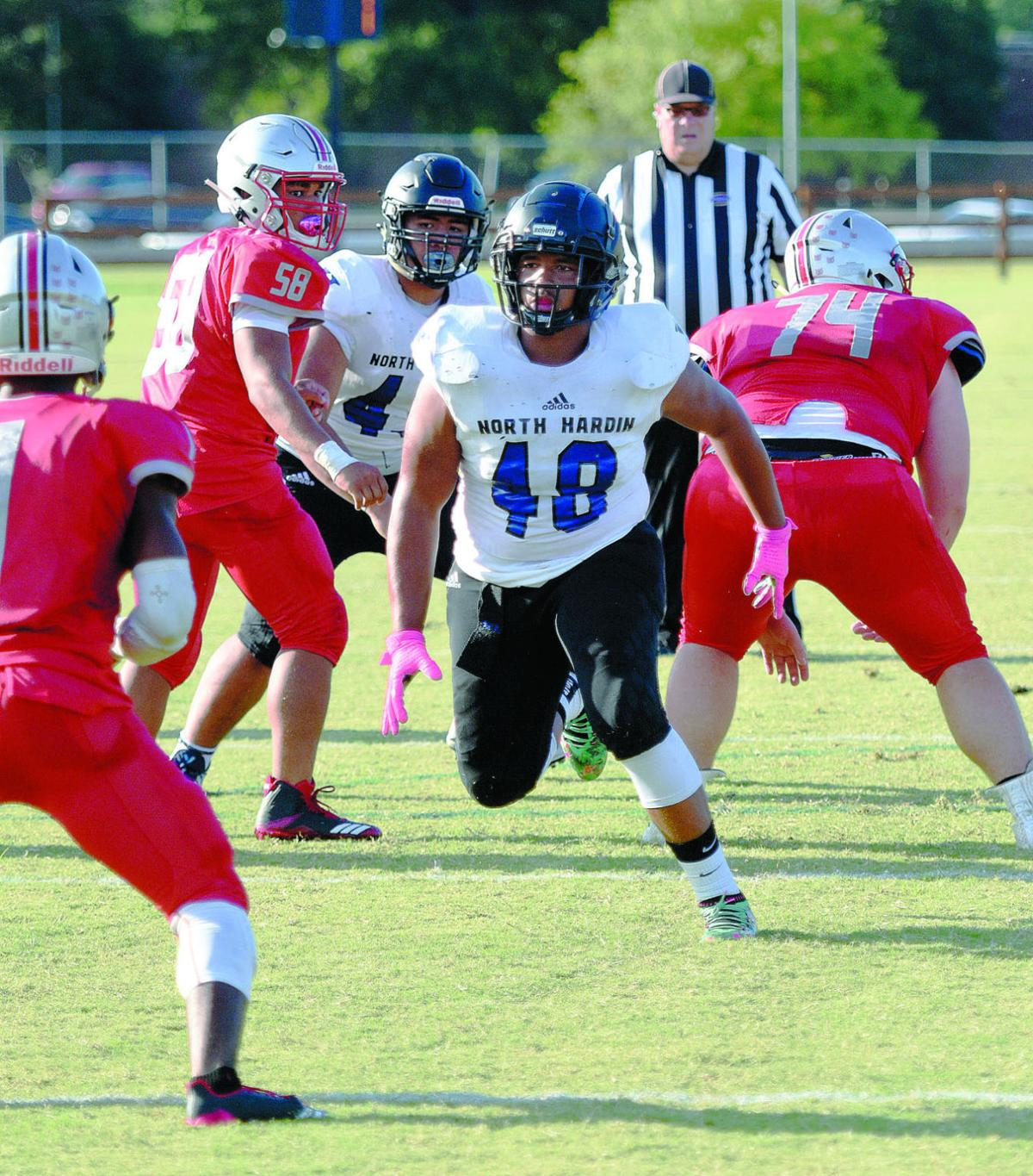 PREP FOOTBALL: North Hardin scores 7 TDs, 5 via the air in cruising to a win