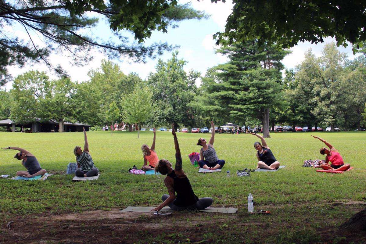 Becoming one with nature through yoga