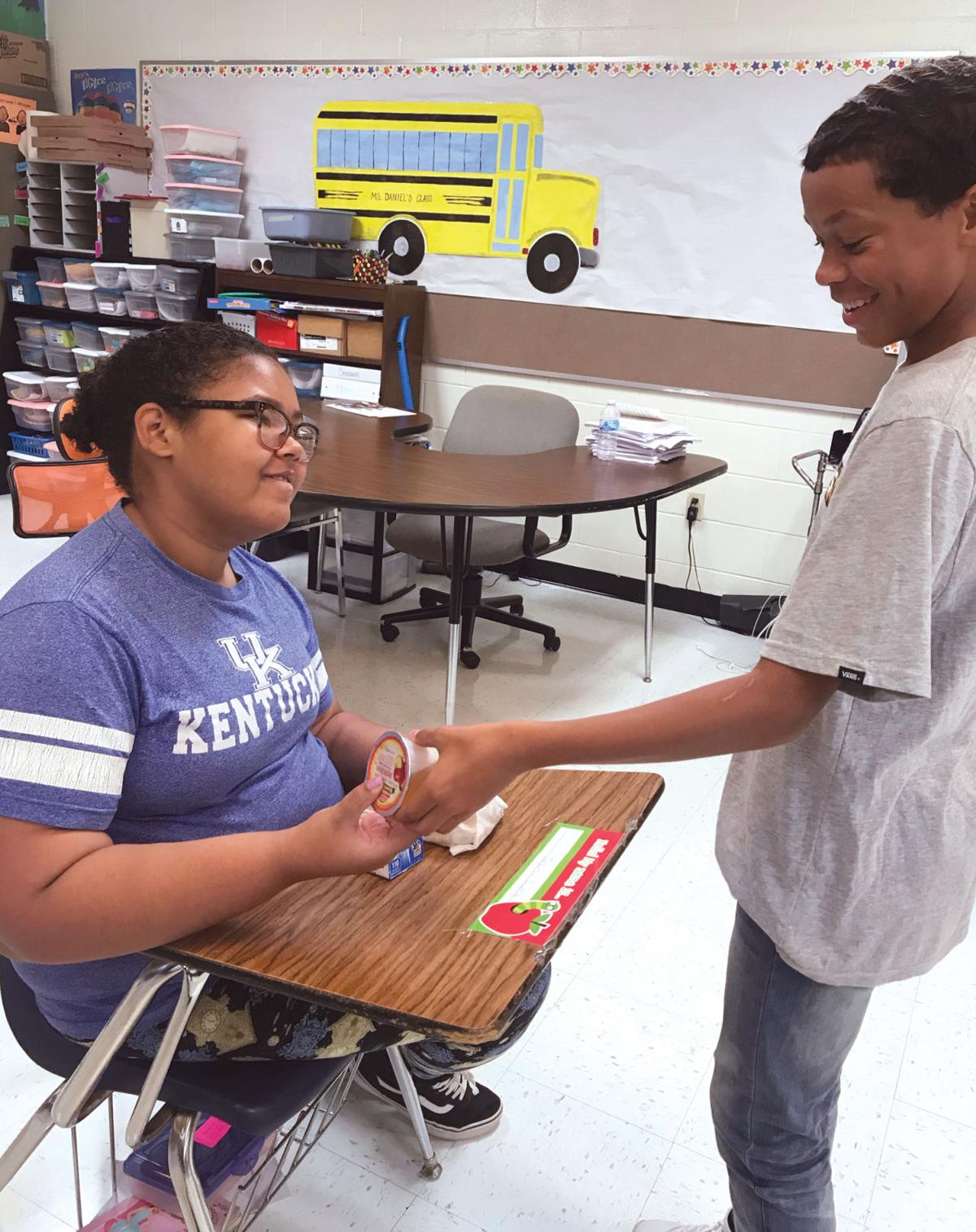 8th-grader prioritizes helping others
