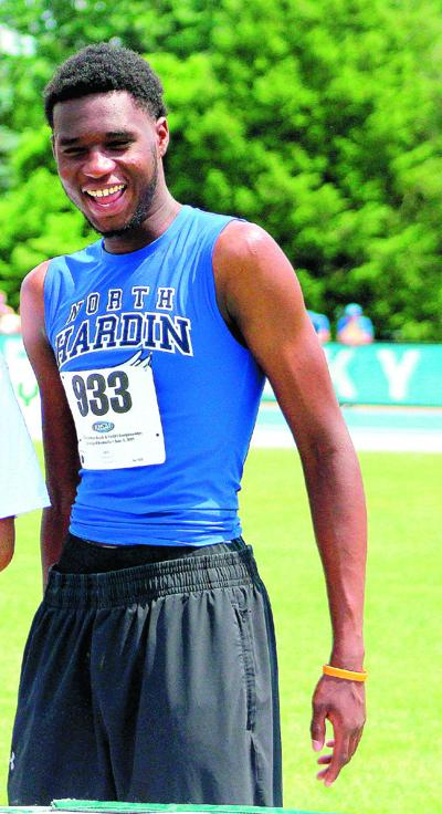 ALL-AREA TRACK BOYS' FIELD ATHLETE OF THE YEAR: North Hardin's Moore takes the award