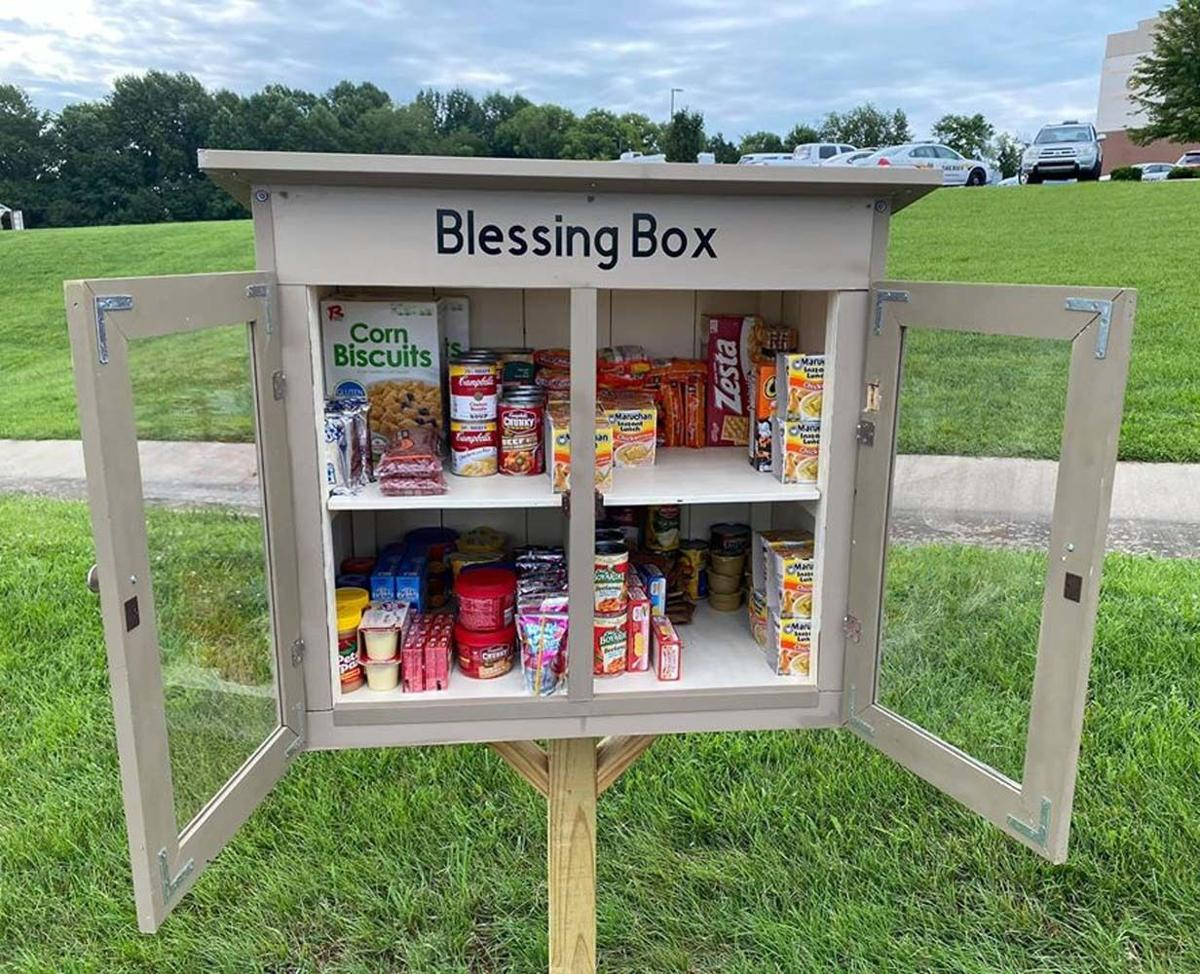 Box offers blessings to people in need
