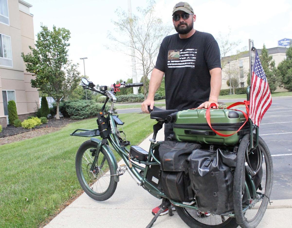 Man spreading awareness of PTSD makes stop in Elizabethtown