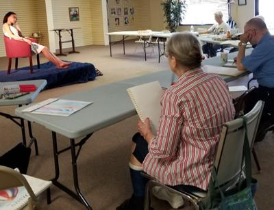 Art Guild members participate in life drawing session
