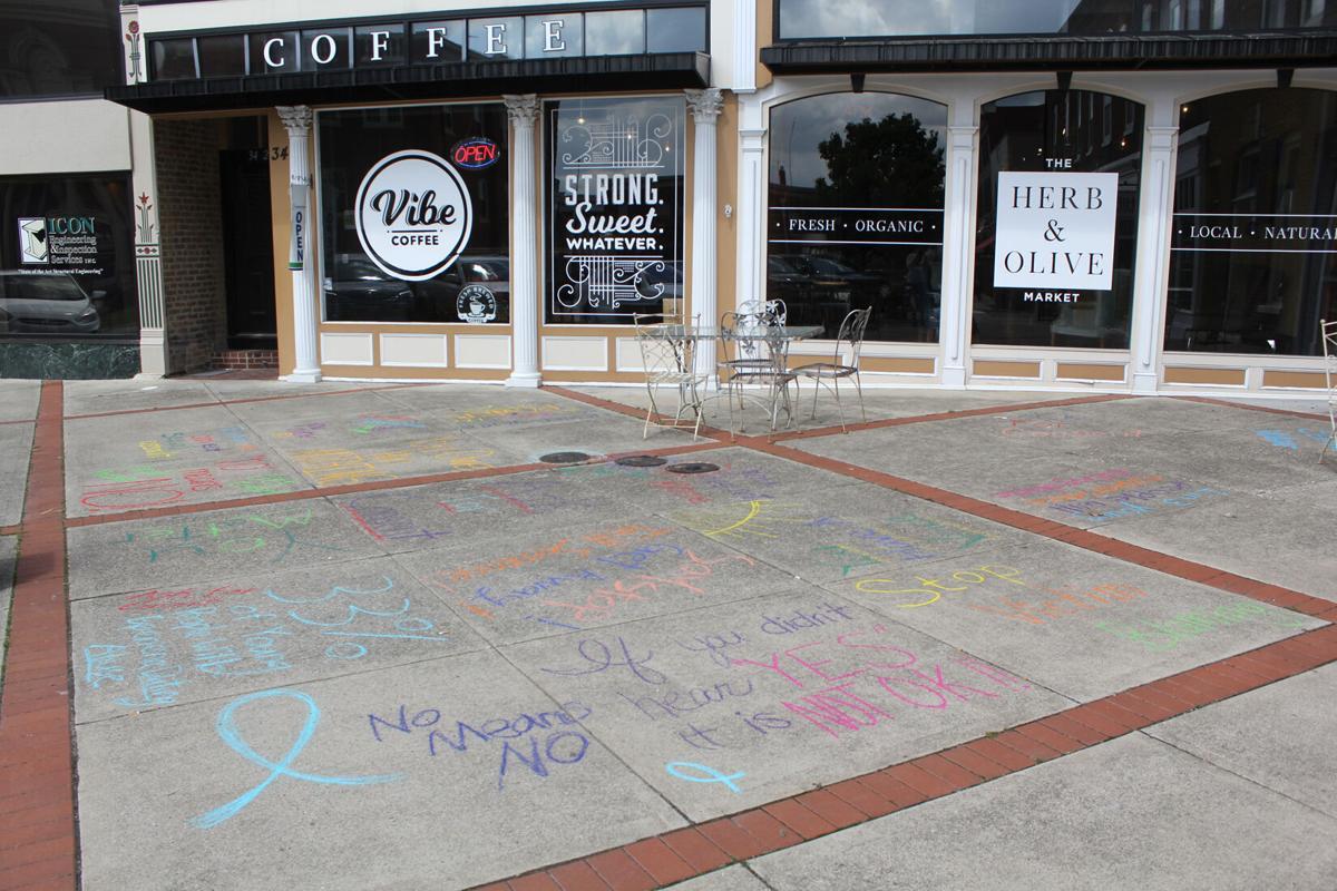 Chalk the Walk event raises sexual assault awareness