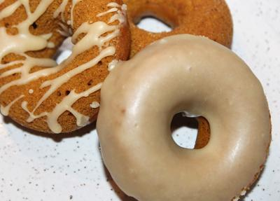 Pumpkin doughnuts suit the Thanksgiving season