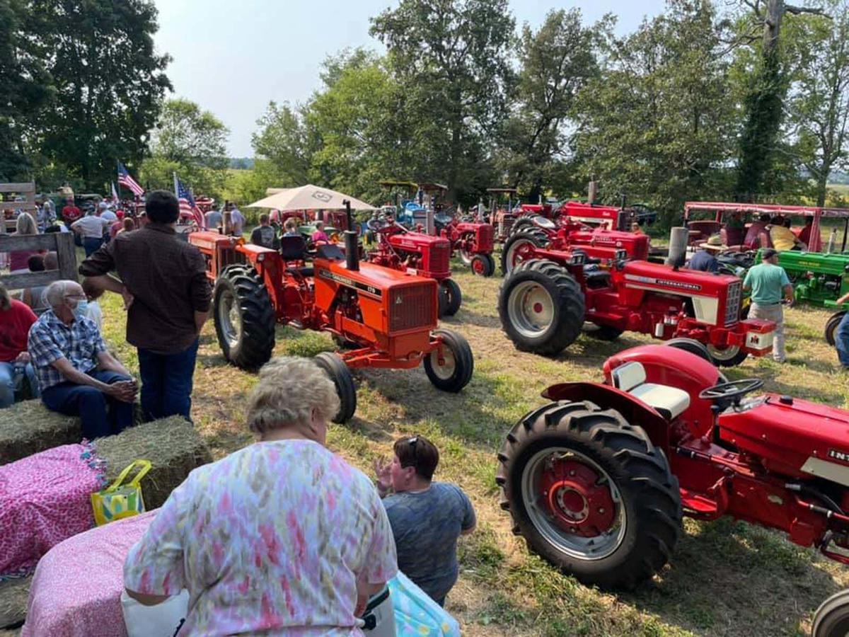 Tractors on parade in Cecilia