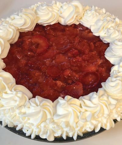 Strawberries a great addition to cream cheese pie