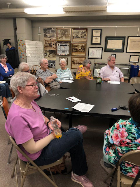 Ancestral Trails members welcome Heath as guest speaker