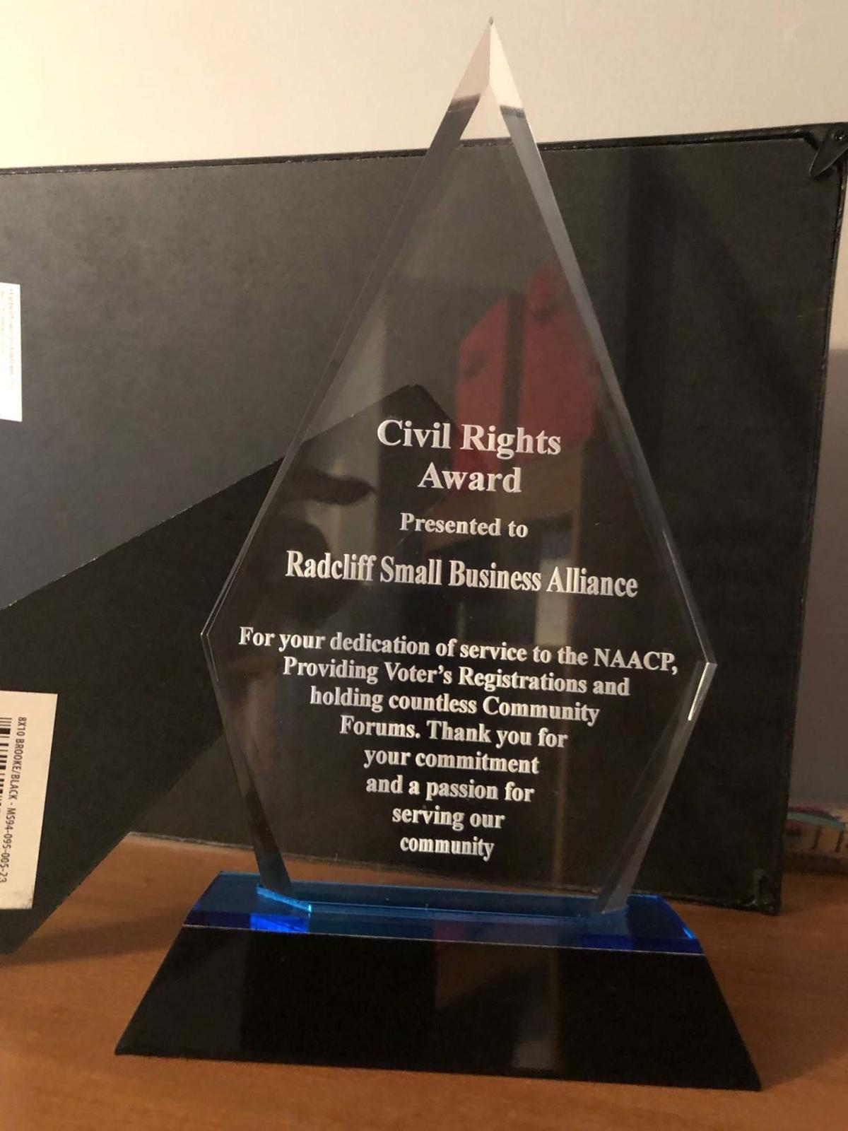 Radcliff Small Business Alliance receives civil rights award