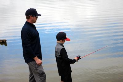 Father and son angling