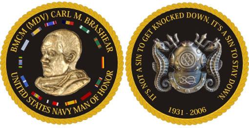 Challenge coins memorialize Carl Brashear