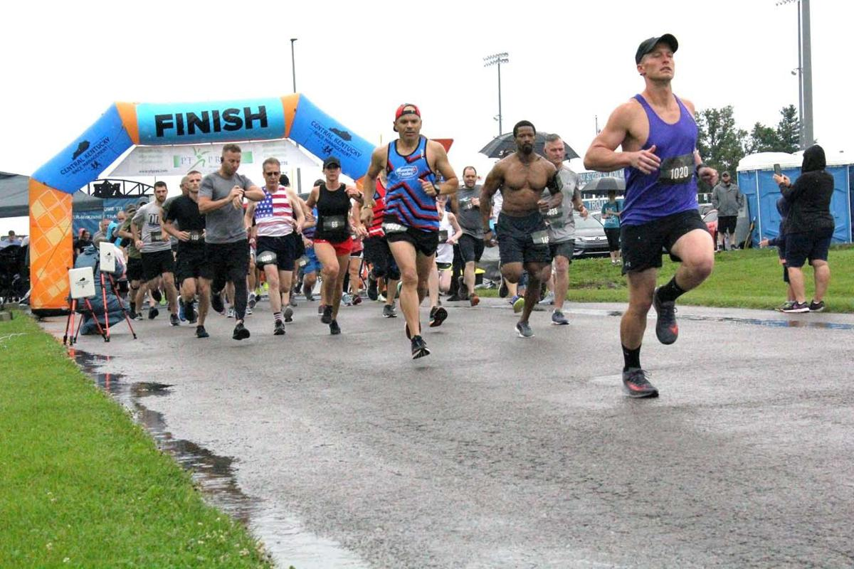 Runners brave elements for annual Trooper Cameron Ponder 5K/10K
