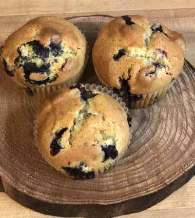 Blueberries are good for nutrition, and muffins