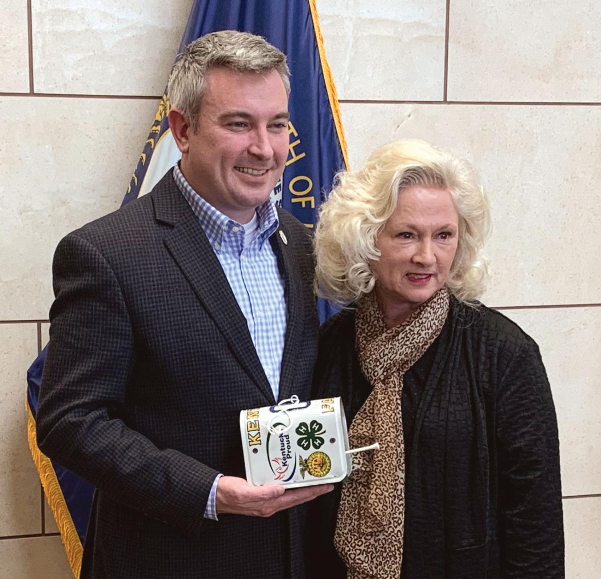 Commissioner visits clerk's office to promote Ag Tag campaign