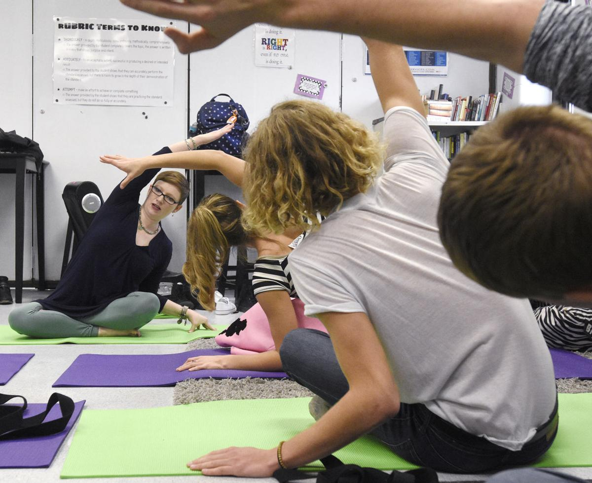 Innovative Classroom Yoga ~ Pearsall practices yoga innovative teaching methods