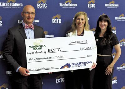 Magnolia Bank presents $50,000 gift to ECTC for University