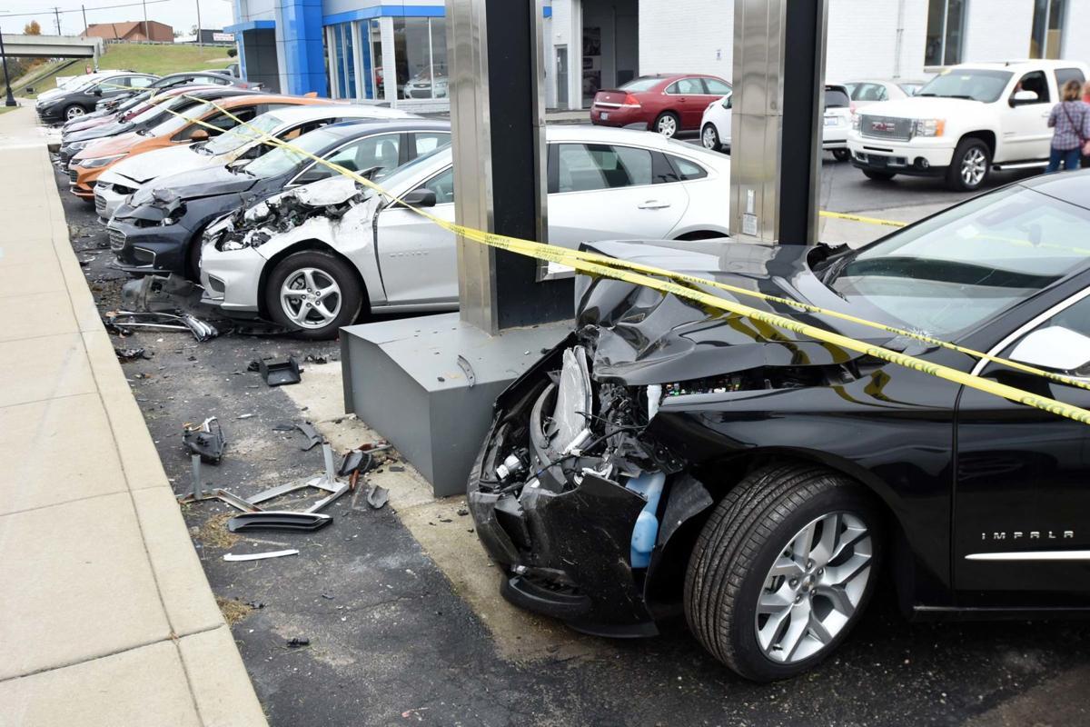 14 cars damaged at dealership local news. Black Bedroom Furniture Sets. Home Design Ideas