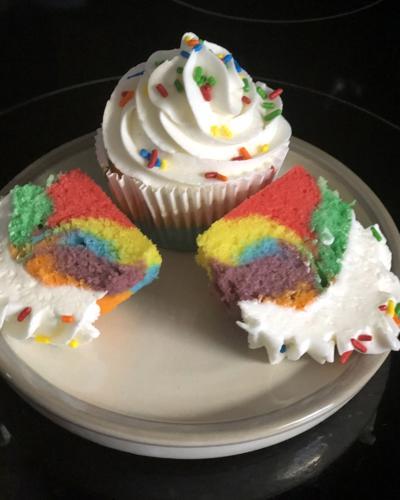 Colorful cupcakes cover dessert spectrum